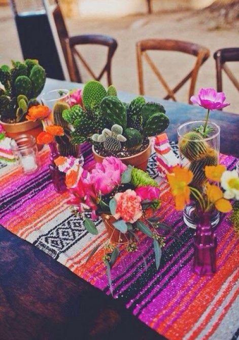 mesa de decoração mexicana