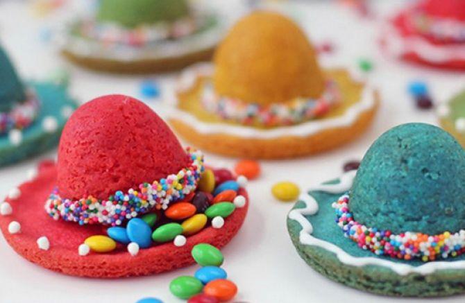 Cookies de chapéu sombreiro