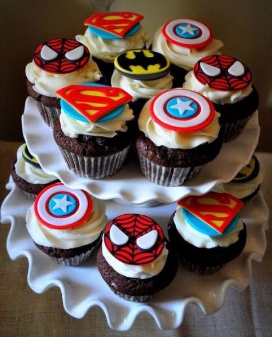 Cupcake de super- heróis