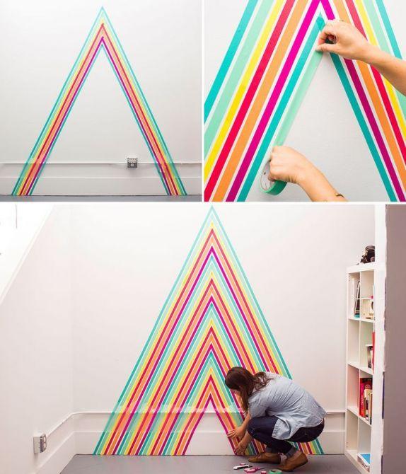 decorar-parede-fita