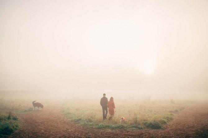 Ideias Book de Casamento na neblina do campo