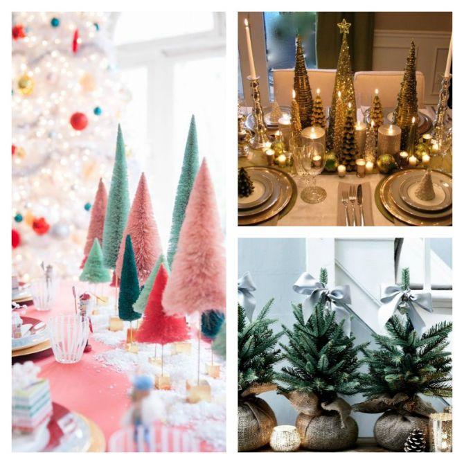 Faça Mini Árvores de Natal