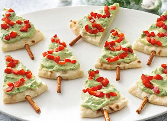 Mini Pizzas de Natal