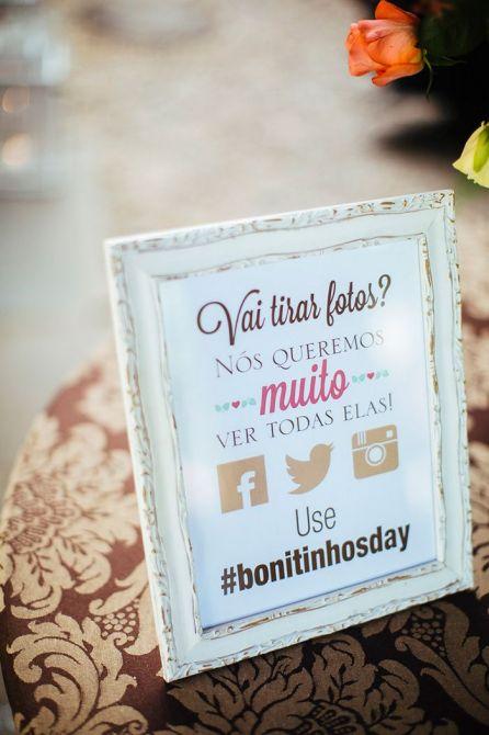 Crie uma Hashtag para o seu Casamento