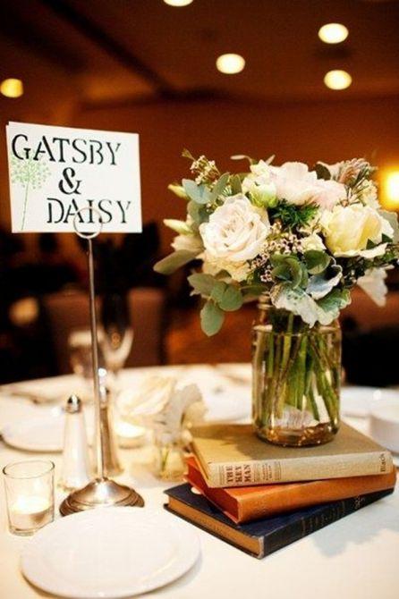 Identifique as mesas com nomes de casais famosos