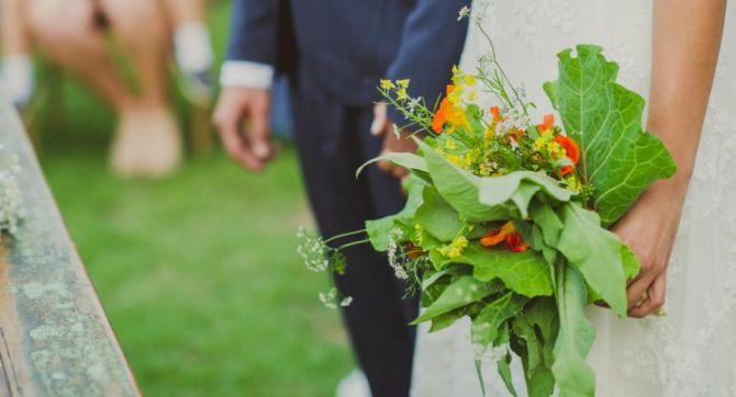 Buque de noiva sustentável