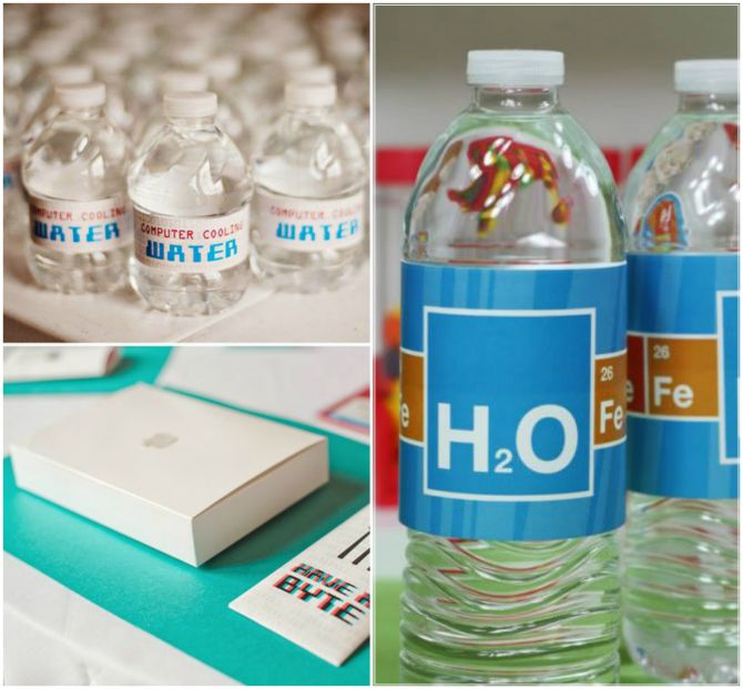 água personalizada geek nerd