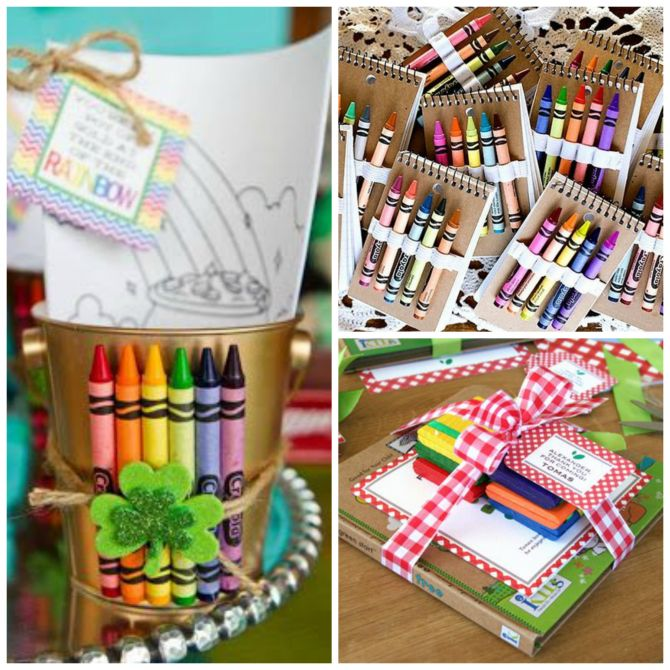 Kits de colorir para lembrancinha de festa na escola