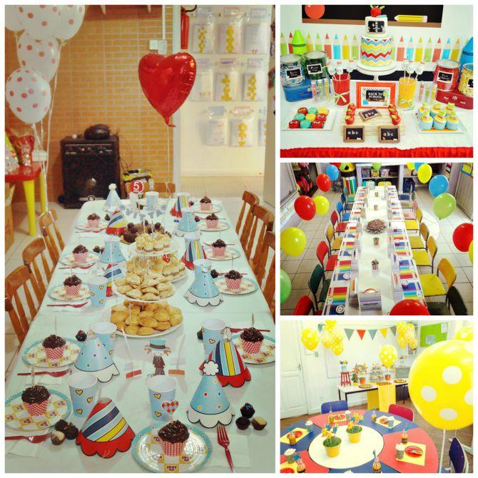 Decoração prática para festa na escola