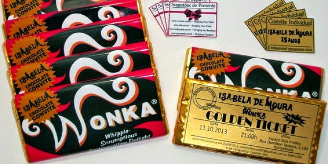 Convites de 15 anos Willy Wonka