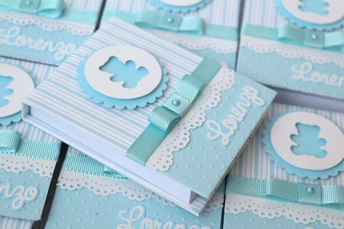 Lembrancinhas de maternidade: bloco de anotações