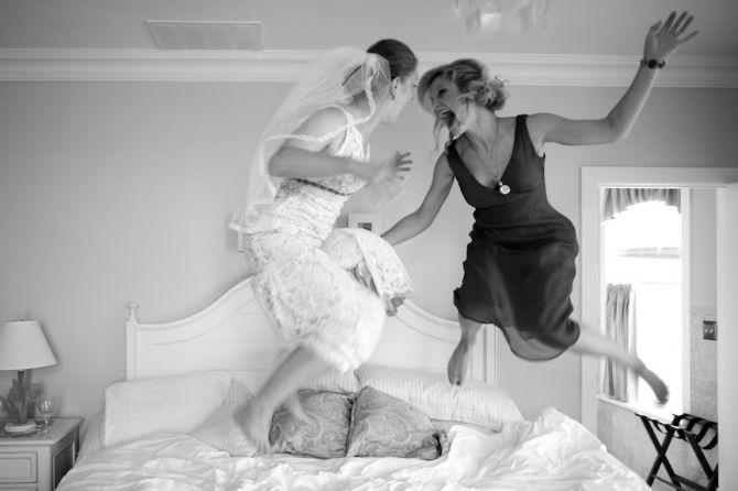 Melhores fotos de casamento com sua mãe: divertida e espontânea