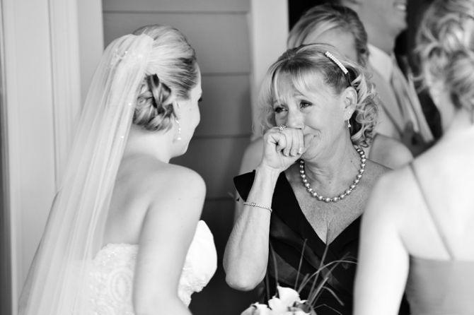 Primeiro olhar: fotos de casamento com as mães