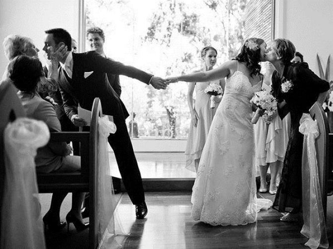Melhores fotos de casamento com sua mãe: cerimônia