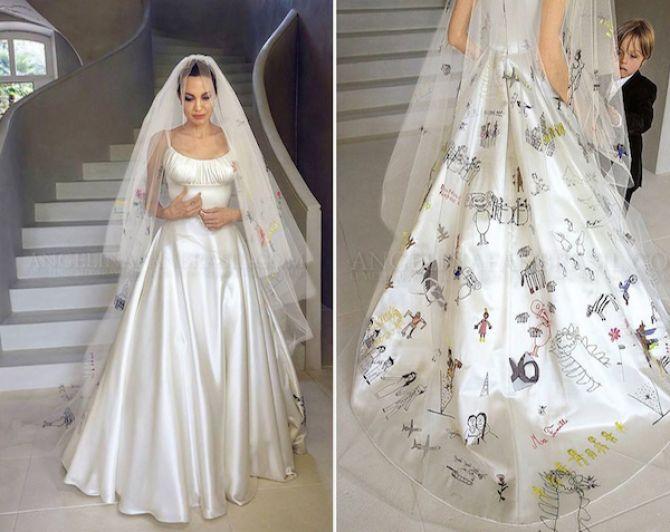 Vestidos de noiva das famosas: Angelina Jolie