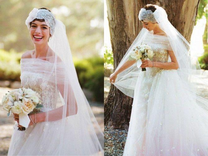 Vestidos de noiva das famosas: Anne Hathaway
