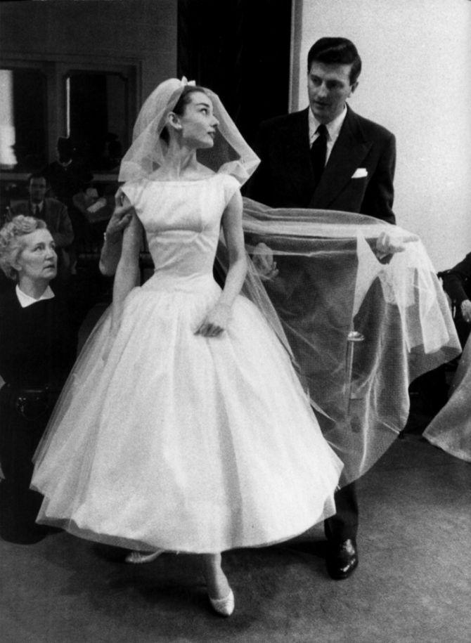 Noivas famosas: Audrey Hepburn
