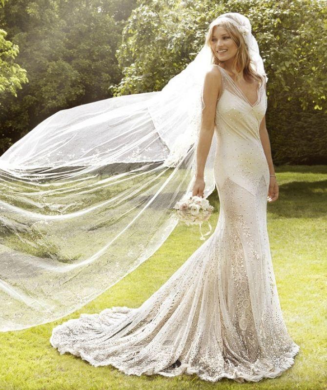 Vestidos de noiva das famosas: Kate Moss