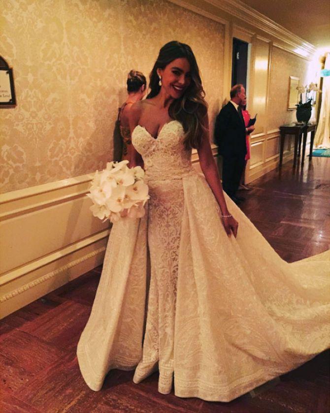 Sofia Vergara, vestidos de noiva famosas