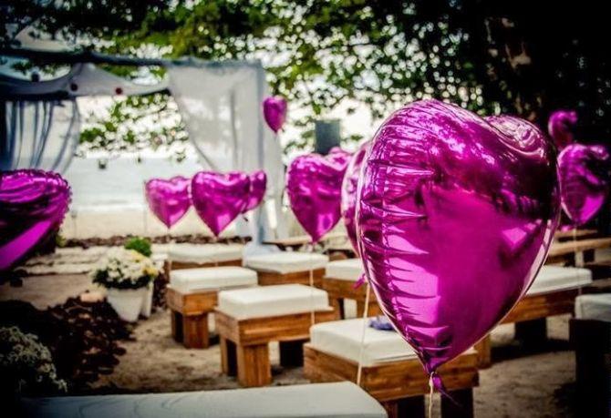 Balões na cerimônia de casamento