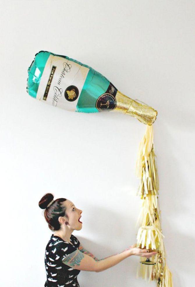 Champanhe de Balão Metálico