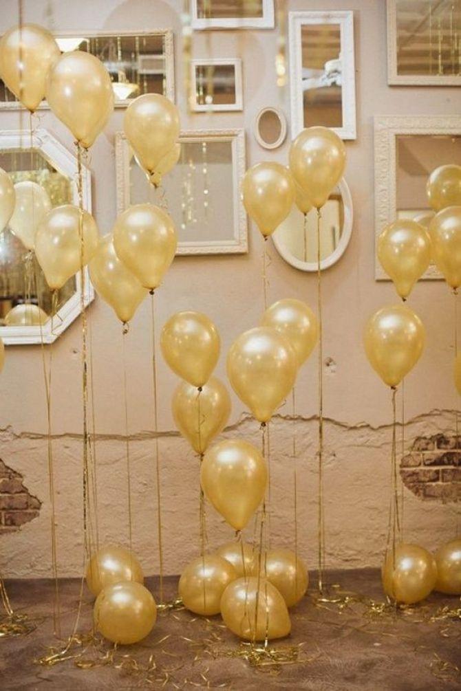 Fitinhas em balões metálicos para decorar