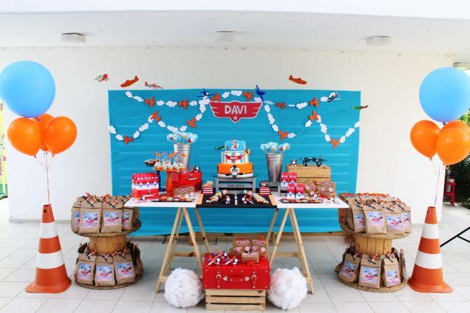 Decoração de aniversário infantil: Aviões