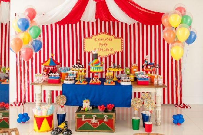 festa infantil com tema de circo