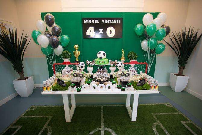 Futebol como tema de festa infantil
