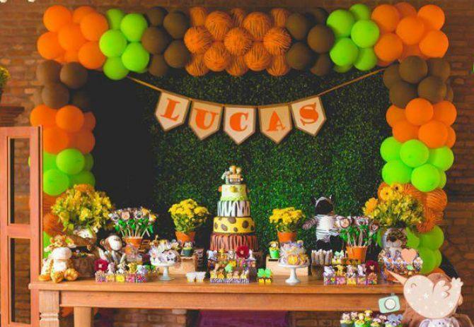Safári para decoração de festa infantil
