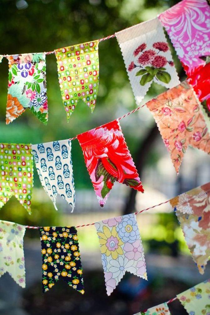 decoração de festa junina com bandeirinhas
