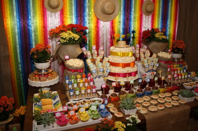 fita de cetim para decorar festa junina