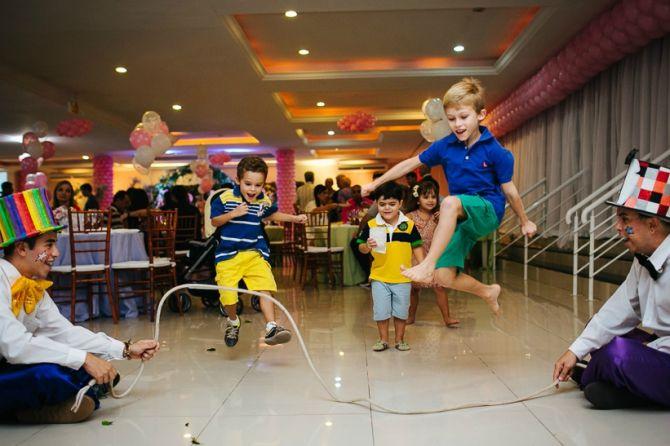 A animação é garantida com a recreação de festa infantil