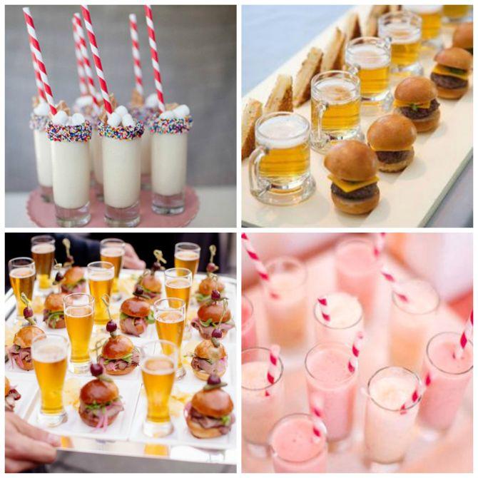 Milkshakes são a cara do cardápio de fast food para casamento