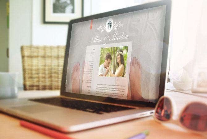 O blog para noivos permite que o casal compartilhar a história e os preparativos