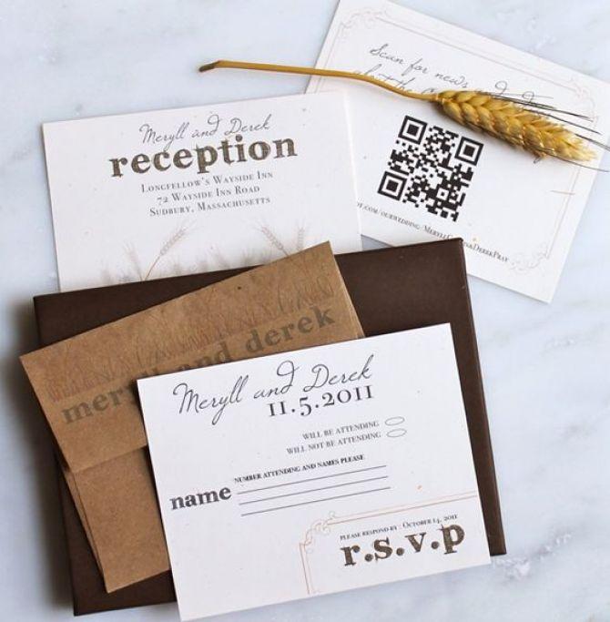 Convites com a tecnologia QR Code são opção para casamentos modernos
