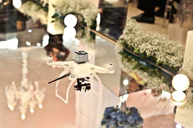 O drone é uma opção para casamentos modernos