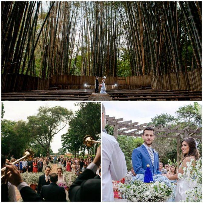 O próprio parque faz parte da decoração da festa de um casamento ao ar livre