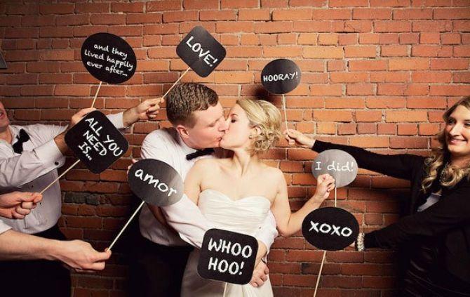 Placas divertidas para a festa de casamento