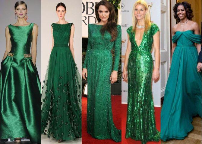 Verde esmeralda para o vestido da madrinha de casamento