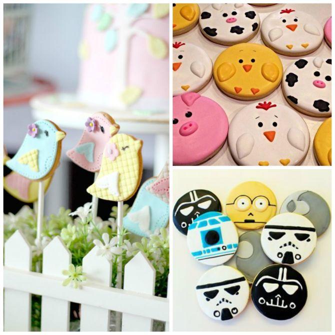 Cookies decorados para festa infantil