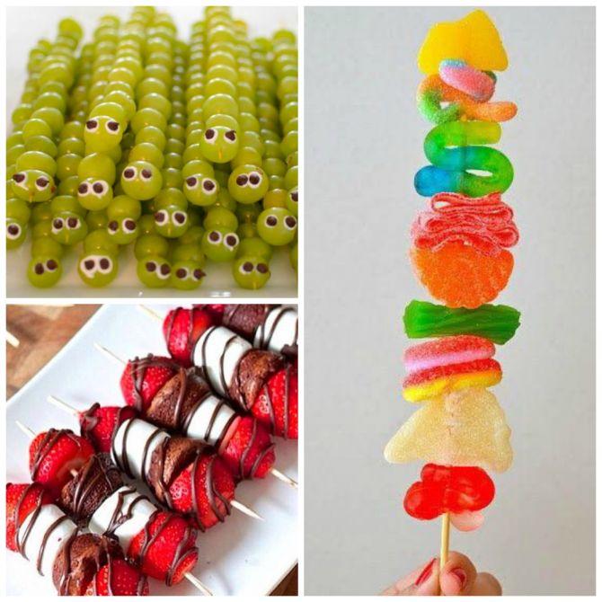Espetinhos doces é opção para a festa infantil