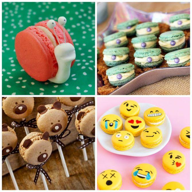 Macarons decorados é opção divertida