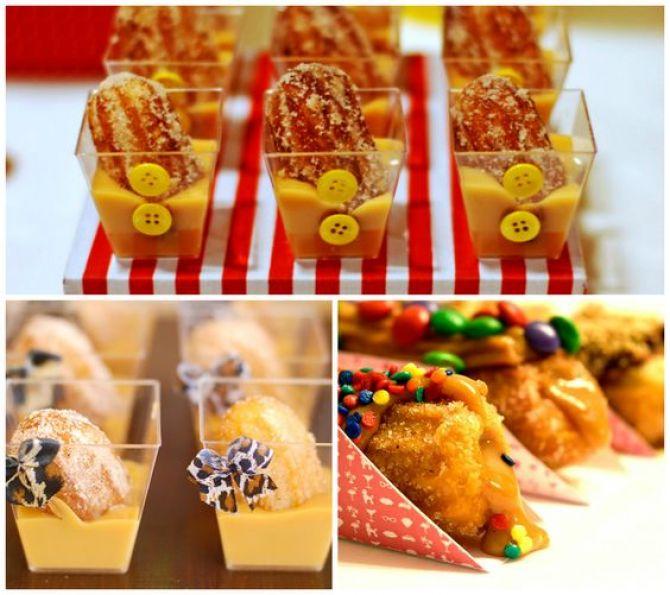 Os Mini churros fazem sucesso nas festas infantis