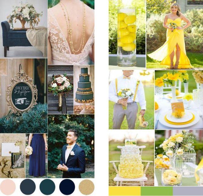 Azul ou amarelo como cores principais do casamento