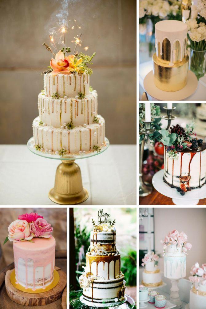 Dripping cake para casamento