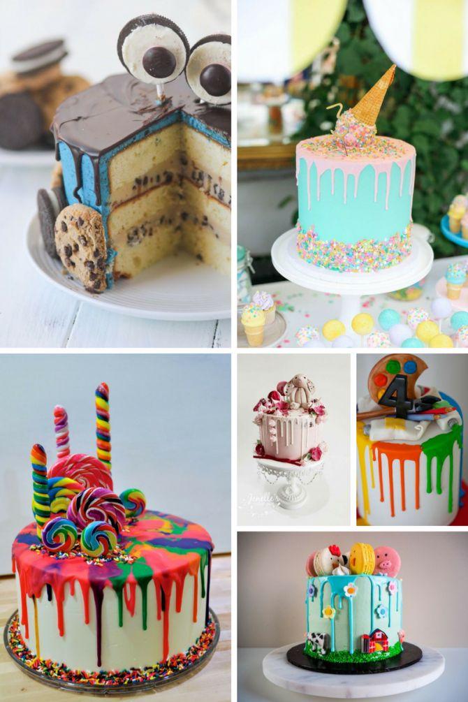 Dripping cake para aniversário infantil