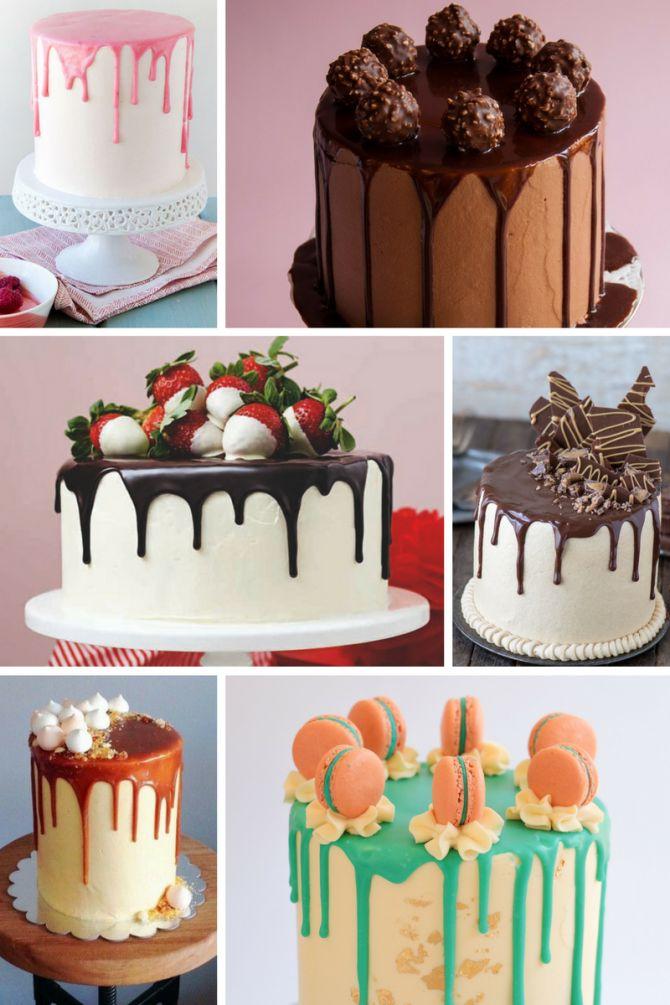 Dripping cake com decoração simples