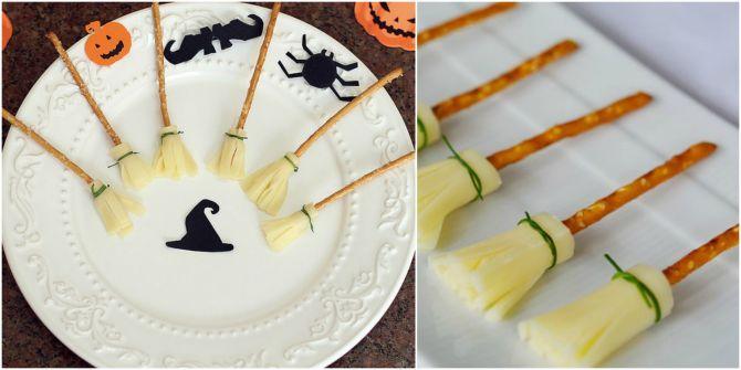 Vassouras feitas com queijo