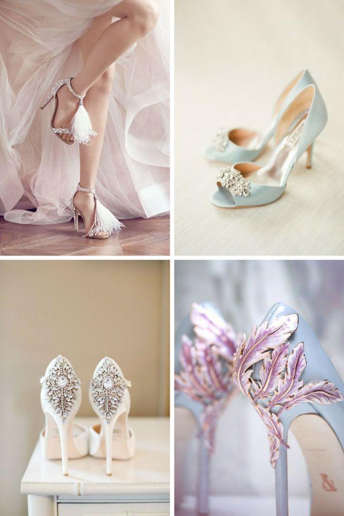 Sapato de noiva com detalhes